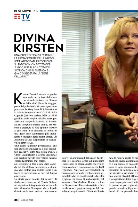 KIRSTEN DUNST in Best Movie Magazine, July 2020