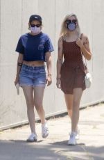 KRISTEN STEWART and DYLAN MEYER Out for Lunch at Kitsune in Los Angeles 07/12/2020