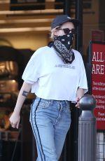 KRISTEN STEWART in Denim Wearing  Bandana Mask Out in Los Angeles 07/14/2020
