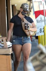 LANA DEL REY in Denim Shorts  Shopping at 7-eleven in Los Angeles 07/28/2020