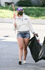 LANA DEL REY in Denim Shorts Shopping for Decorations in Los Angeles 07/03/2020