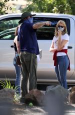 LAURA DERN Outside Her Home in Pacific Palisades 07/07/2020