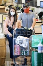 LILY COLLINS and Charlie McDowell at Whole Foods Market in West Hollywood 07/18/2020