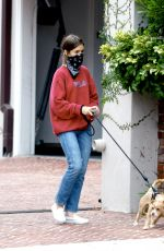 LILY COLLINS and Charlie McDowell Out with Their Dog in Los Angeles 07/22/2020
