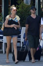 LILY FLYNN and Alessandro Pera Out in Portofino 07/12/2020