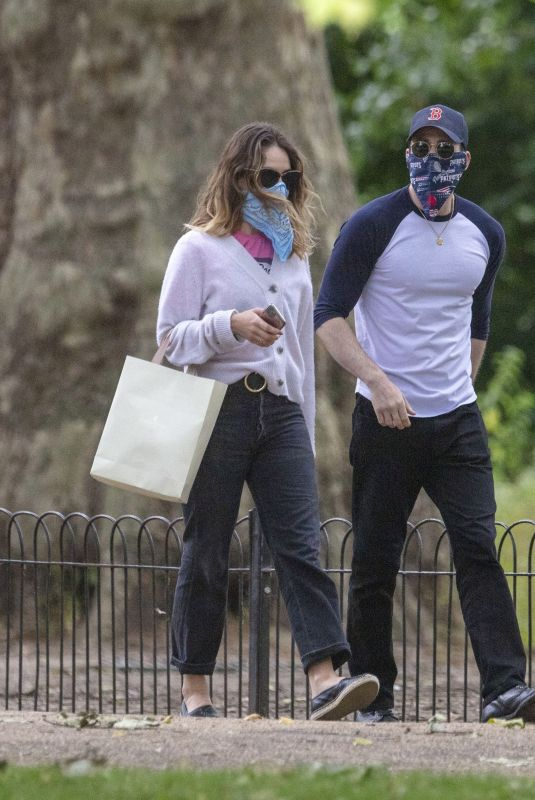 LILY JAEMS and Chris Evans at a Park in London 07/08/2020