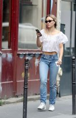 LILY-ROSE DEPP Out in Paris 07/06/2020