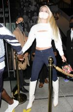 LINDSEY VONN and P.K. Subban at Catch LA in West Hollywood 07/03/2020