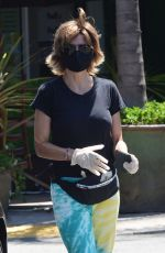 LISA RINNA Wearing a Mask Out in Beverly Hills 07/27/2020