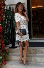 LIZZIE CUNDY Out at Annabels in Berkeley Square 07/13/2020