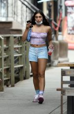 LOURDES LEONE in a Shorts Out in New York 07/08/2020