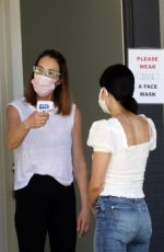 LUCY HALE Arrives at a Beauty Salon in Los Angeles 07/03/2020
