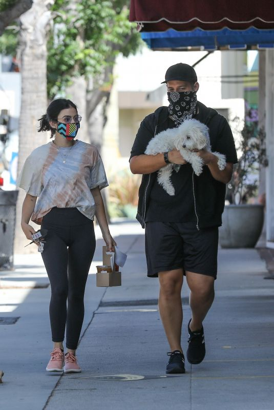 LUCY HALE Out for Coffee with a Friend in Studio City 06/30/2020