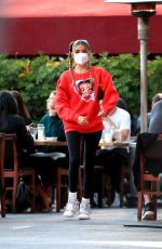 MADISON BEER Out for Lunch at Matsuhisa in Beverly Hills 07/27/2020