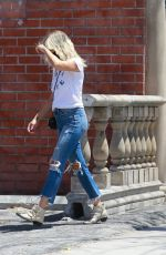 MALIN AKERMAN in Ripped Denim Out Shopping in Hollywood 07/14/2020