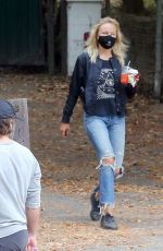MALIN AKERMAN in Ripped Jeans Out at Griffith Park in Los Angeles 07/02/2020