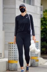 MARIA SHARAPOVA Workout at a Beach in Los Angeles 07/29/2020