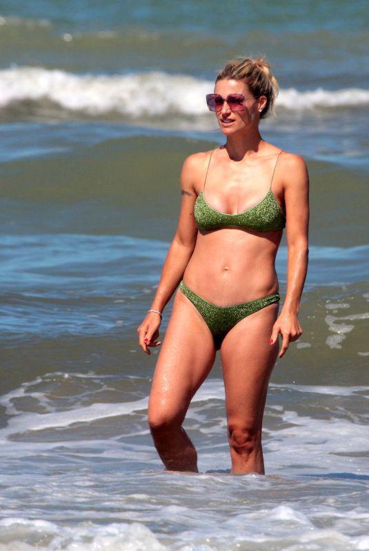 MICHELLE HUNZIKER in Bikini in Milano Marittima 07/04/2020