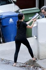MINKA KELLY Putting a Mailbox Outside Her Home in Los Angeles 07/13/2020