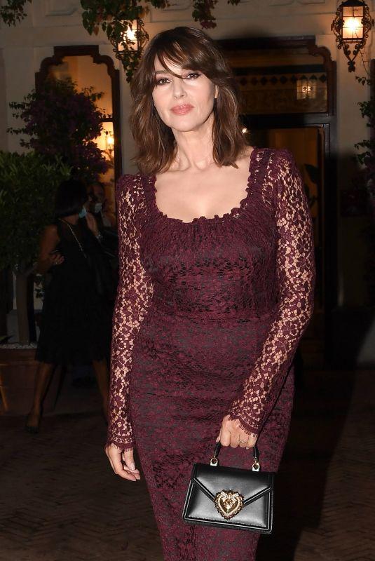 MONICA BELLUCCI at at 2020 Taormina Film Fest Evening in Honor of Dolce & Gabbana 07/18/2020