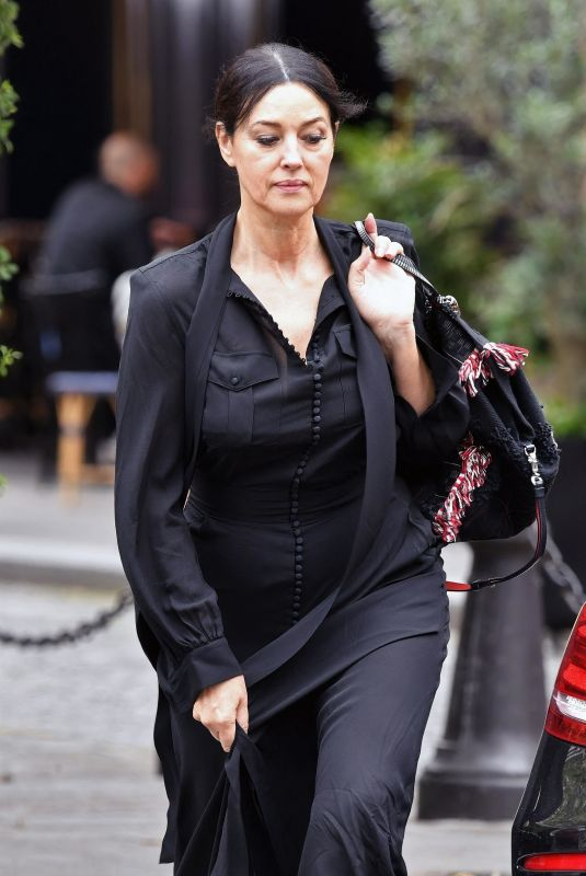 MONICA BELLUCCI Out for Lunch in Paris 07/16/2020