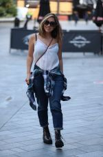 MYLEENE KLASS Arrives at Heart Radio in London 07/10/2020