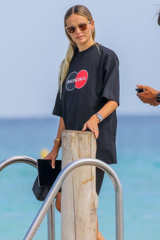 NATASHA POLY at Club 55 Beach in Saint-tropez 07/28/2020