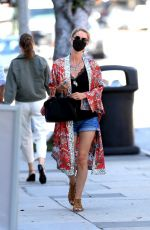 NICKY HILTON in Denim Shorts Shopping at Kitson Kids in West Hollywood 07/08/2020