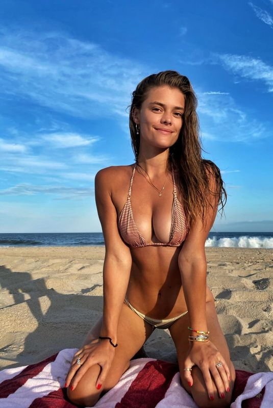 NINA AGDAL in Bikini at a Beach – Instagram Photos 07/14/2020