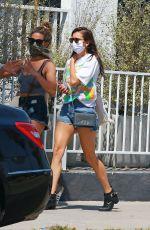 NINA DOBREV in Denim Shorts at Erewhon Market in Venice Beach 07/21/2020