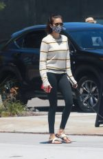 NINA DOBREV Out with Her Dog Maverick in Los Angeles 07/18/2020