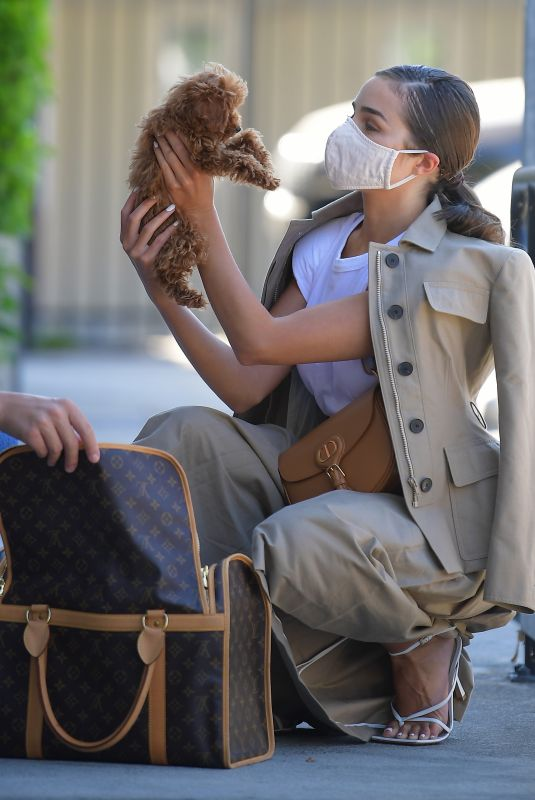 OLIVIA CULPO Visits the Vet with Her New Dog Oliver Sprinkles in Los Angeles 07/17/2020