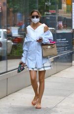 OLIVIA PALERMO Leaves Pedicure Spa in Brooklyn 07/07/2020