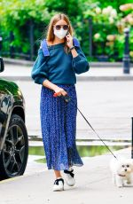 OLIVIA PALERMO Out with Her Dog in New York 07/01/2020