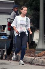 OLIVIA WILDE Out and About in Los Angeles 07/01/2020