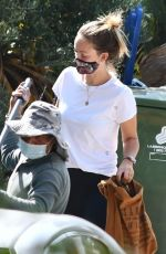 OLIVIA WILDE Wearing a Mask Outside Her Home in Silver Lake 07/09/2020