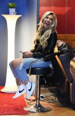 PAIGE TURLEY in Rippde DEnim at a Recording Studio in Manchester 07/10/2020