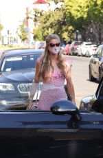 PARIS and NICKY HILTON Out in Her Bentley on Melrose Avenue in Los Angeles 07/27/2020