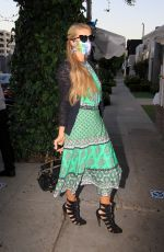 PARIS HILTON Arrives at The Ivy in Los Angeles 07/01/2020