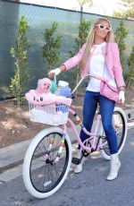 PARIS HILTON Out on a Bike in Beverly Hills 07/09/2020