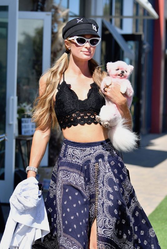 PARIS HILTON Out Shopping in Malibu 07/06/2020