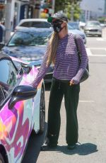 PARIS HILTON Wearing a Mask Out and About in Beverly Hills 07/03/2020