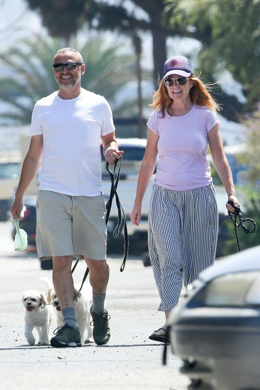 PATSY PALMER and Richard Merkell Out with Their Dogs in Malibu 07/10/2020