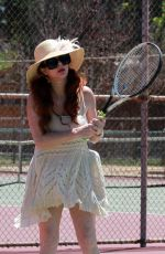 PHOEBE PRICE at a Tennis Court in Los Angeles 07/10/2020