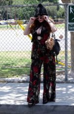 PHOEBE PRICE Out with Her Dog Henry in Los Angeles 06/30/2020
