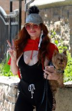 PHOEBE PRICE Out with Her Dog Henry in Los Angeles 07/11/2020