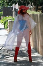 PHOEBE PRICE Out with Her Dog in Los Angeles 07/08/2020