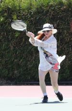 PHOEBE PRICE Playing Tennis in Los Angeles 07/09/2020