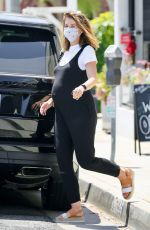 Pregnant KATHERINE SCHWARZENEGGER Out for Coffee in Brentwood 07/21/2020