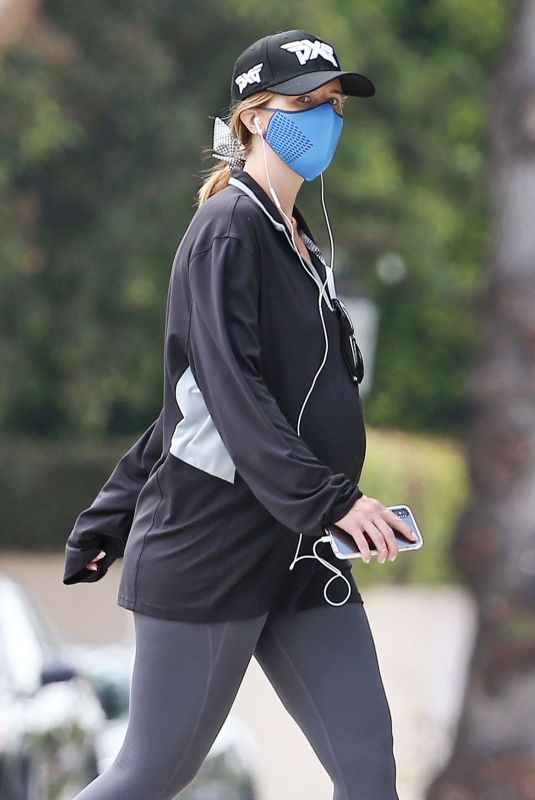 Pregnant KATHERINE SCHWARZENEGGER Out in Brentwood 07/02/2020
